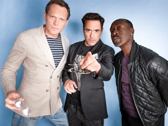 Paul Bettany, Robert Downey Jr. and Don Cheadle are