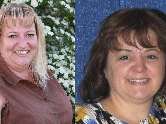 Kristy Lynn Mitchell (left) and Suzanne Hogan (right) were both gunned down Nov. 19 in random shootings.