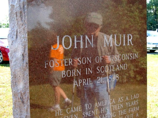A monument in honor of John Muir sits in the county