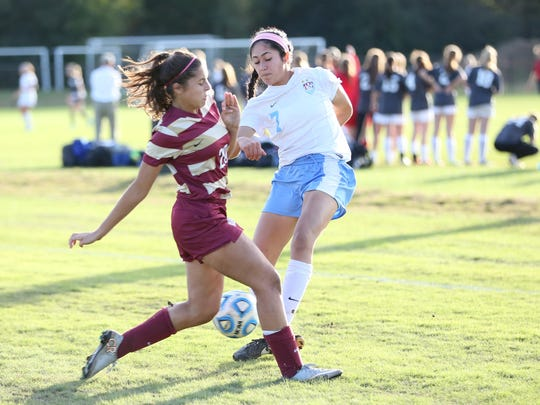 USJ's Holeh Heydari tries to get a shot against ECS on Friday in the D2-A semifinals.