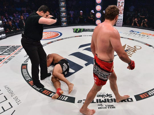 Before referee John McCarthy can signal an end to the fight, Matt Mitrione was already walking away from Carl Seumanutafa after knocking him out, showing mercy on a beaten foe.