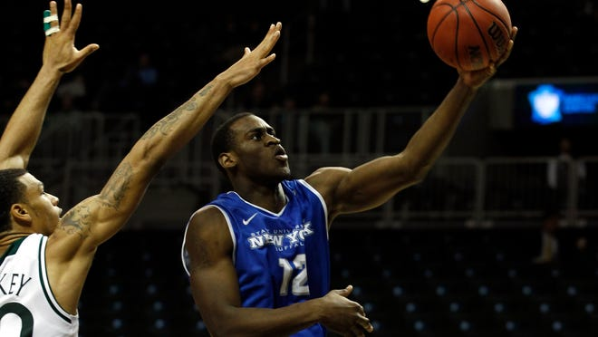 University at Buffalo forward Javon McCrea of Newark is three points away from becoming the first men's player in Bulls' history to score 2,000 points.