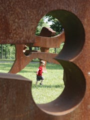 Pyramid Hill Sculpture Park and Museum in Hamilton provides a lot of running space for the little ones.