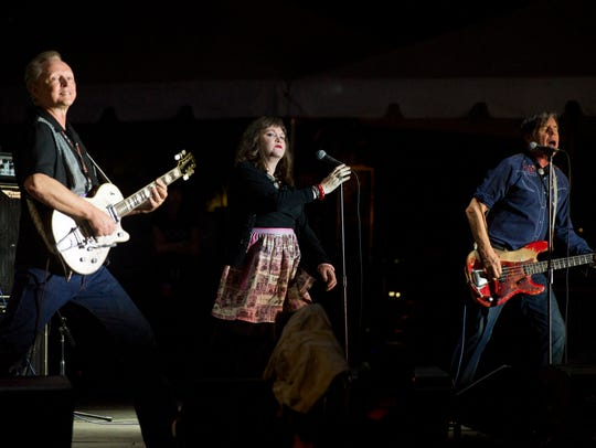 Members of the band X Billy Zoom, Exene Cervenka, and