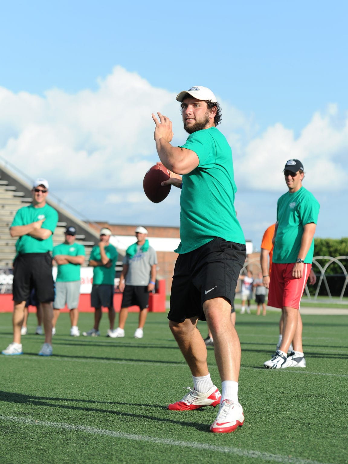 After attending the Manning Passing Academy as a camper, Andrew Luck returned to serve as a counselor twice.