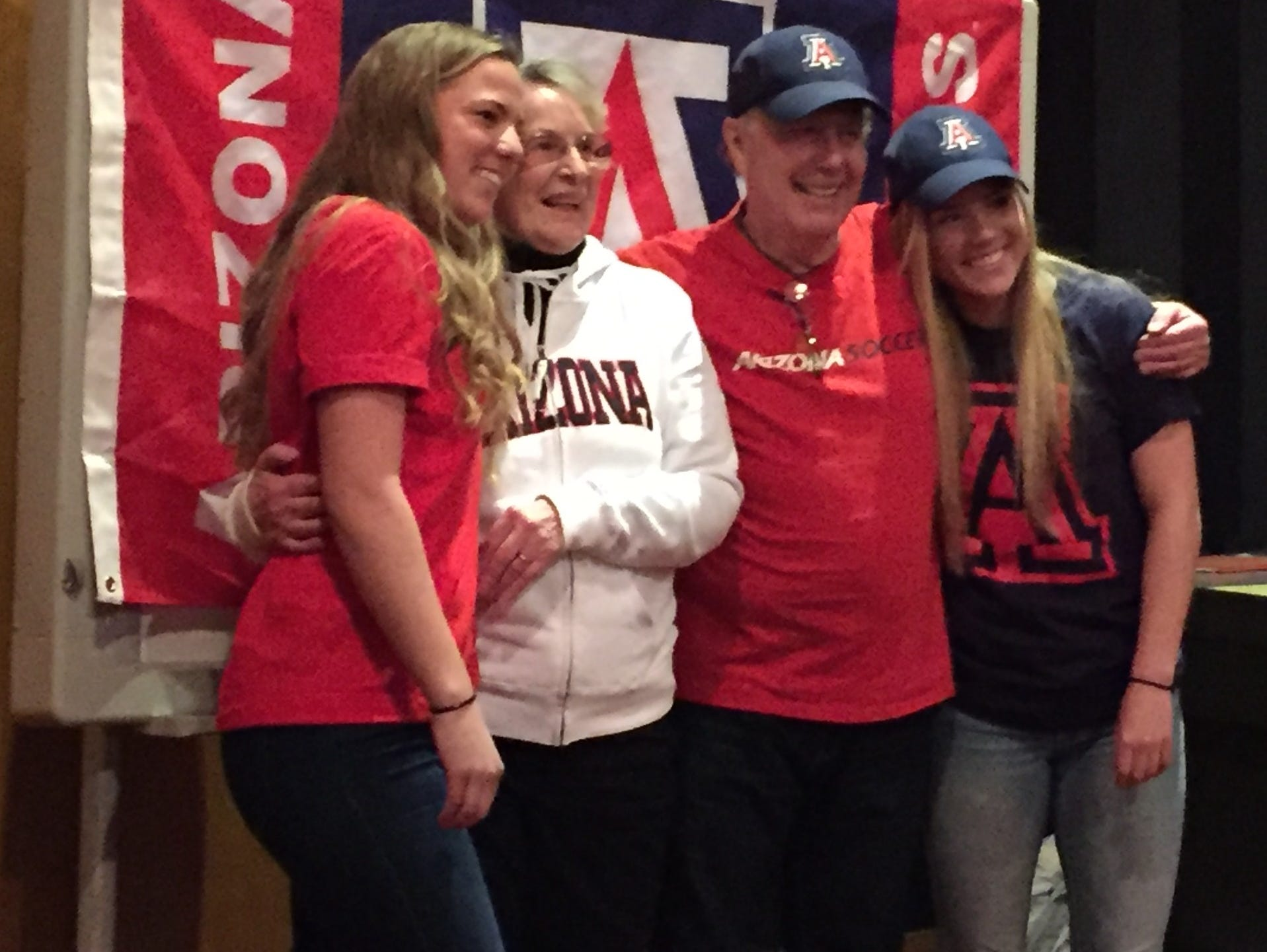 South Salem seniors Hannah Clifford (left) and Hailey Clifford (far right) have signed National Letters of Intent to play soccer at Arizona.