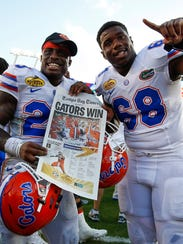 Florida defensive back Chauncey Gardner (23) and offensive