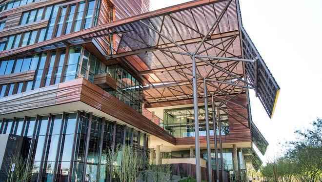 The Biomedical Sciences Partnership Building opens Thursday, Feb. 23, 2017, at the University of Arizona College of Medicine-Phoenix.