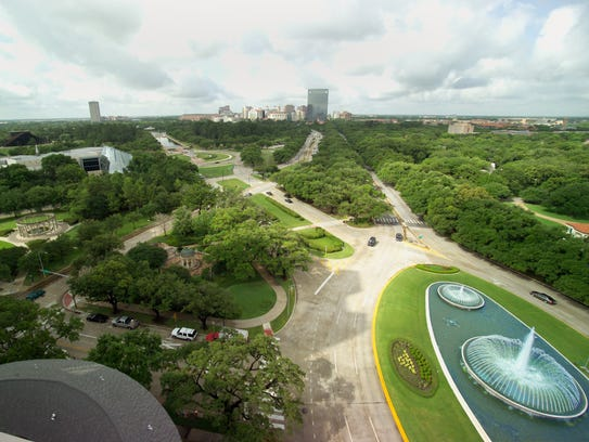 The Houston Museum District, bordering Hermann Park