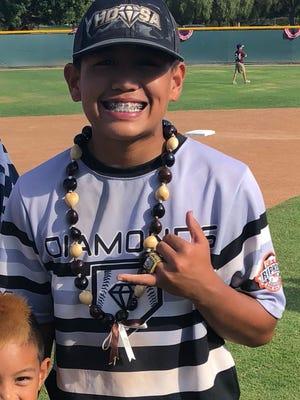 Hawaii Diamonds Black baseball player Cason Quinata.