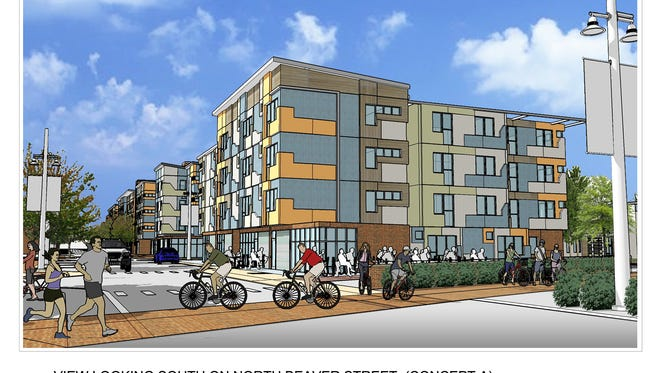 The Time Group, of Baltimore, wants to build 130 to 150 market-rate rental apartments at the Northwest Triangle.