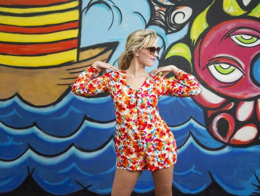 Go floral or go home with this adorable romper! A bold