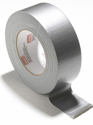 Close-up of a roll of duct tape
