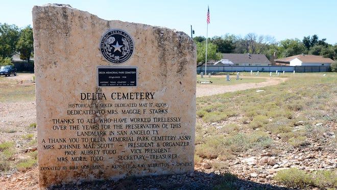 Delta Cemetery in San Angelo.