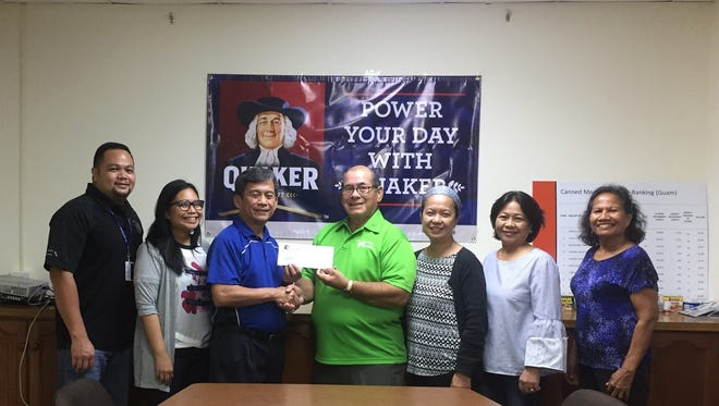 """The Micronesian Brokers, Inc. donated $1,500 to the Guam Diabetes Association for its 18th annual conference to be held Nov. 12 at the Guam Hilton Resort & Spa. The conference theme is """"How Diabetes Affects the Heart"""". Pictured: Glenn Lujan, MBI Brand Marketing Manager, Heidi Lin Almonte, Quaker Marketing Manager, Hermie Queja, General Manager, Scott Duenas, GDA President, Glynis Almonte, GDA Secretary, Nilda Antolin, GDA Member, Lisa Kenworthy, GDA Treasurer."""