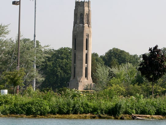 Nancy Brown Peace Carillon tower on Belle Isle in Detroit.