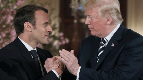 President Trump and French President Emmanuel Macron