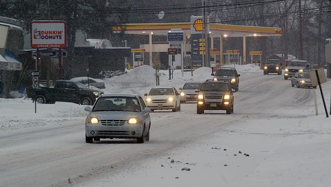 Snow and sleet are in the forecast for the evening commute in Morris County.