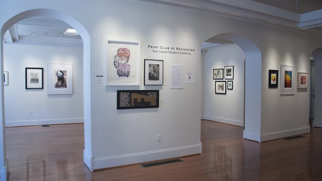 An installation shot of the main floor exhibition at Main Street Arts in Clifton Springs.