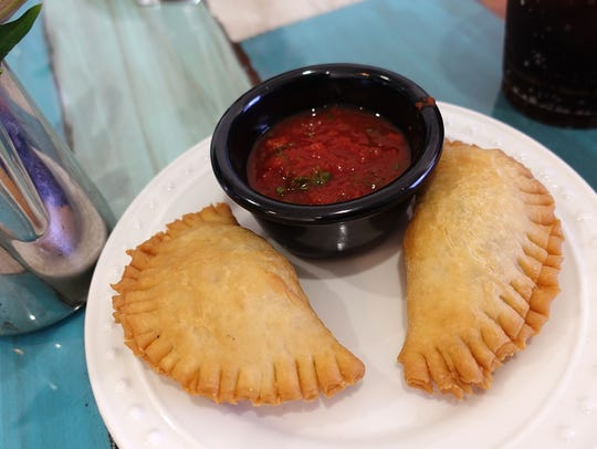 Empanadas filled with beef picadillo at The Latin Kitchen in Mesa.