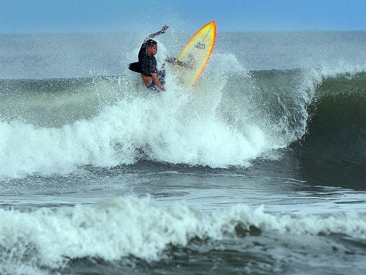 COCOA BEACH WAVES HURRICANE JOAQUIN