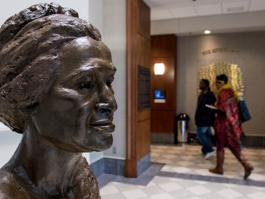 People visit the Rosa Parks Museum in Montgomery, Ala. on Thursday April 26, 2018.