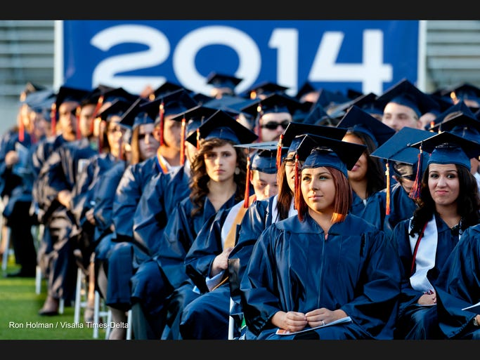 More than 400 graduates attended the 87th commencement for College of the Sequoias at Giant-Chevrolet-Cadillac Mineral King Bowl on Thursday, May 22, 2014.