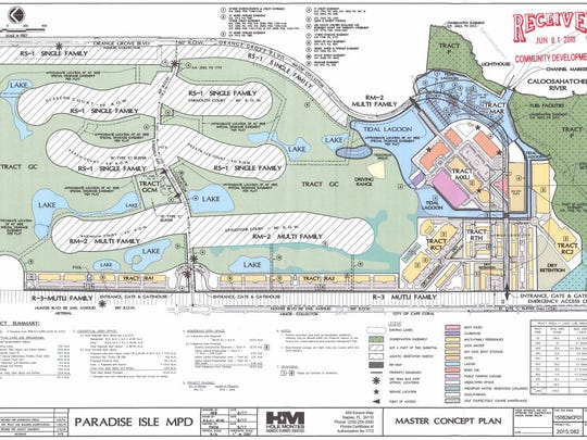 A map of the proposed North Fort Myers mixed-use development.