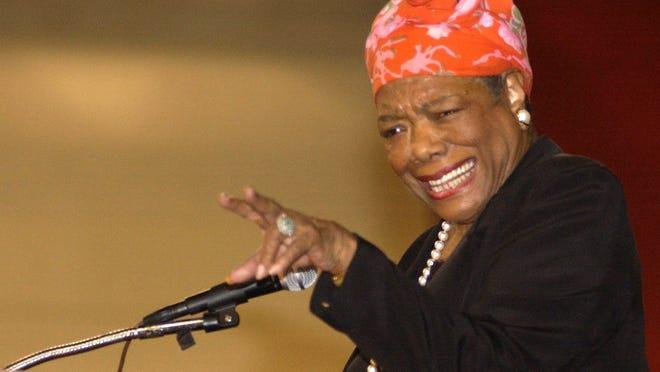 Maya Angelou spoke at St. Cloud State University in April 2003.