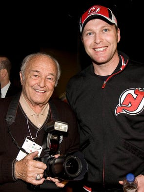 Denis Brodeur, left, father of New Jersey Devils goalie Martin, right, died on Sept. 26. He was a longtime photographer.  Some of the top players that he photographed: