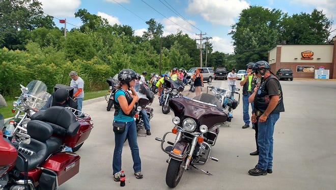 More than 30 bikers with charity group Ride 4 Others gathered for a dice run to benefit a local child facing medical problems.