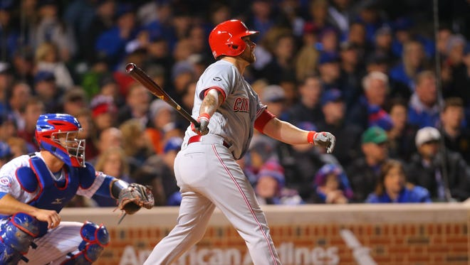 Reds pitcher Brandon Finnegan is hitting .313 in 18 plate appearances