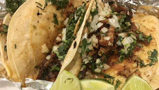Tacos al pastor from Taqueria San Julian in Fort Myers.