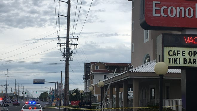 Ocean City police are investigating the fall of a contract worker in the resort at the Econolodge Hotel on Coastal Highway on May 25, 2017.