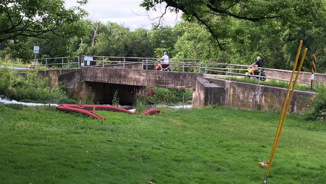 Maclays Mill Bridge is being replaced in the summer of 2017. The road will be closed for more than 2 months.