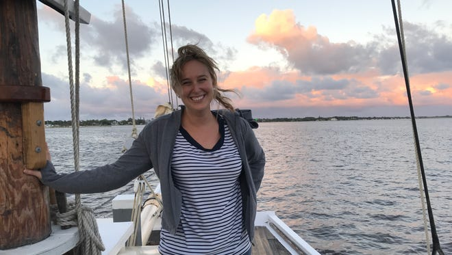 Laurie K. Blandford went sailing for the first time aboard the Schooner Lily in Stuart.