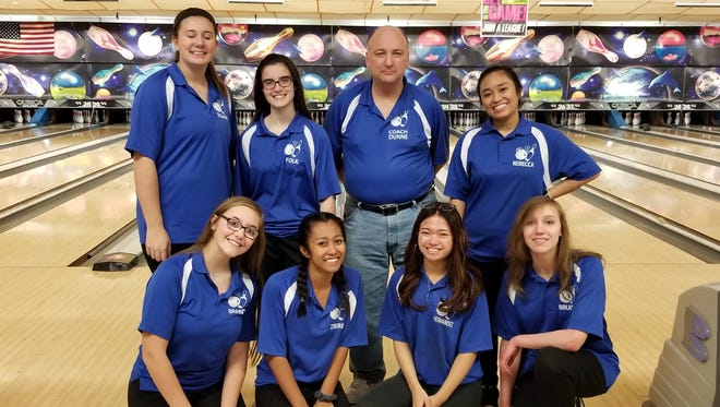 Holy Angels captured its third straight sectional title and ninth in 11 years when it won Group 3 at the North girls bowling tournament on Saturday, Feb. 10, 2018 at Bowler City.