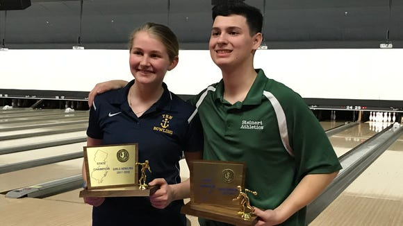 The 2018 state individual bowling champions are Toms River North sophomore Kamerin Peters (girls) and Steinert senior Ryan Carlisi (boys). Carlisi is the first boys repeat winner since the NJSIAA tournament began in 1958.