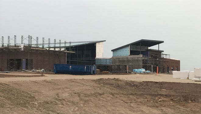 The shell of the first phase of Wylie East Elementary is coming together. Superintendent Joey Light said the district is still on track for completion in the first week of August.