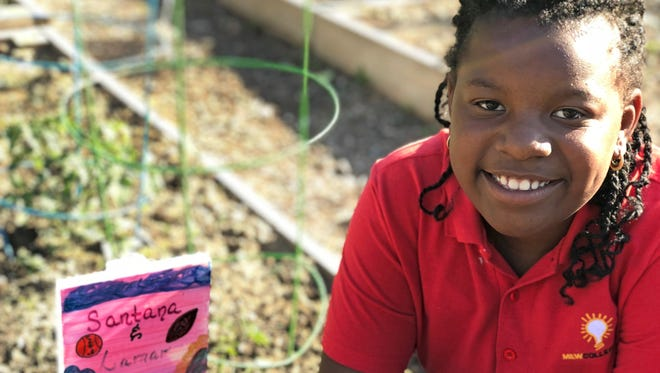 Santana Webb, 9, asked to have her own garden plot.