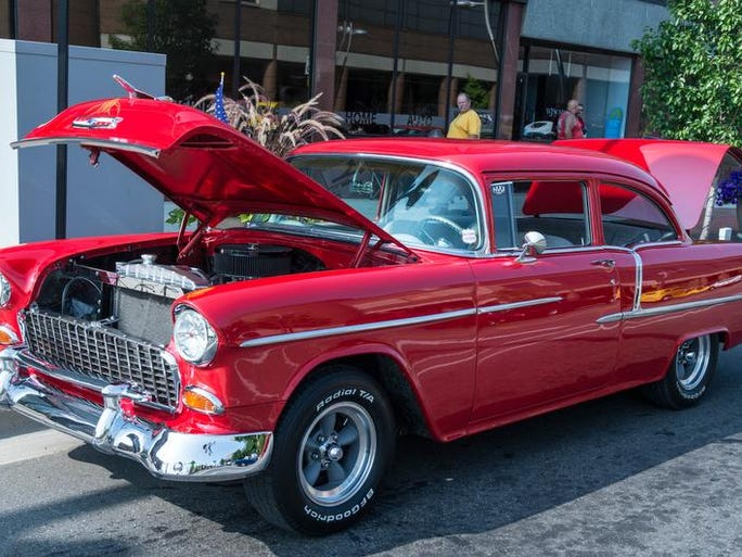 One of the many cars at the 2014 Cruise the Gut in downtown Battle Creek.