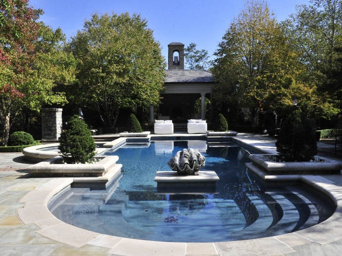 "Sylvia Roberts' Belle Meade home, including the pool, was used as the home of country superstar Rayna Jaymes in the new TV show ""Nashville."""