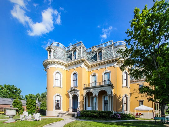 The exterior of Culbertson Mansion State Historic Site.