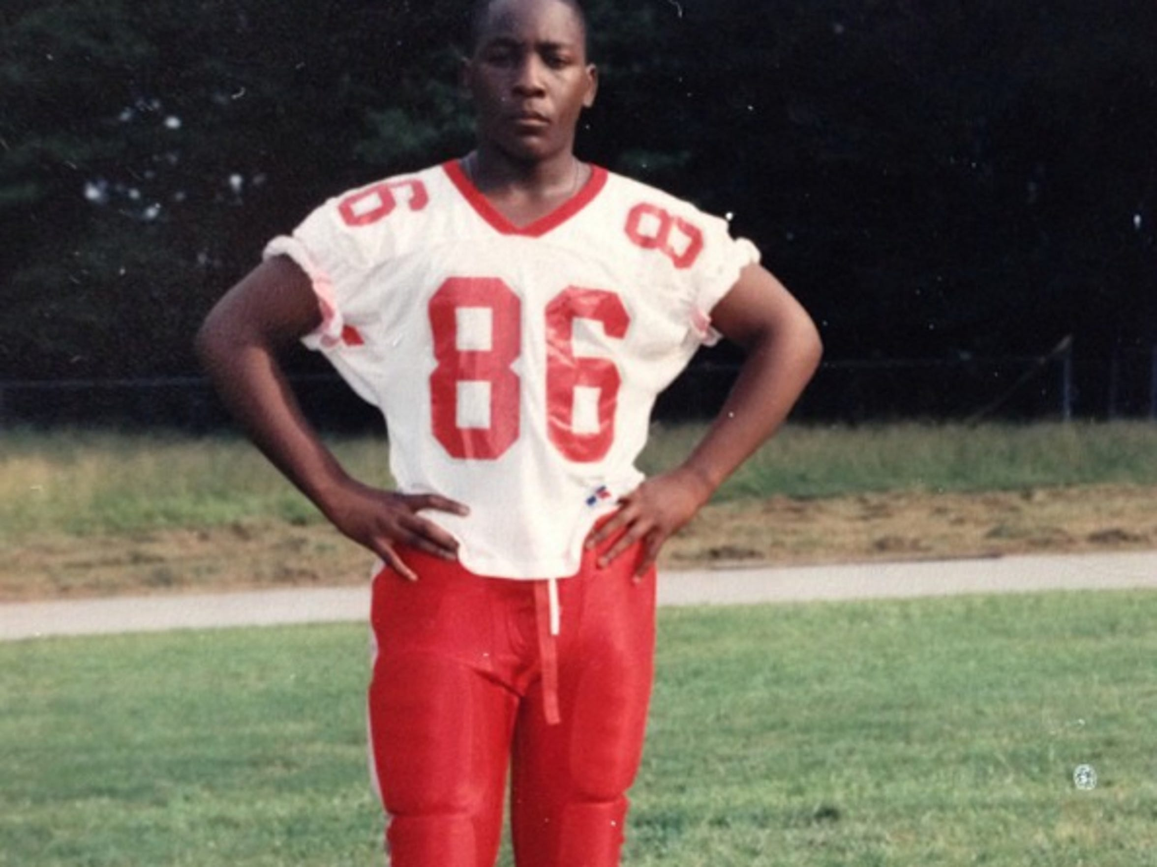 Robert Mathis as a too-small defensive end at McNair High School in Atlanta. With no college interest, Mathis cobbled together a tape of his best plays and sent it to schools.