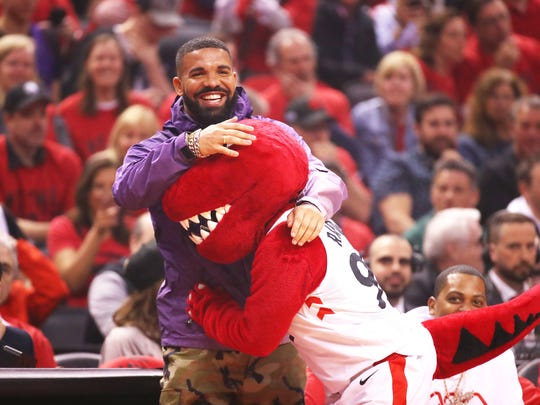 TORONTO, ONTARIO - MAY 19: Rapper Drake attends game three of the NBA Eastern Conference Finals between the Milwaukee Bucks and the Toronto Raptors at Scotiabank Arena on May 19, 2019 in Toronto, Canada. NOTE TO USER: User expressly acknowledges and agrees that, by downloading and or using this photograph, User is consenting to the terms and conditions of the Getty Images License Agreement. (Photo by Gregory Shamus/Getty Images) ORG XMIT: 775341342 ORIG FILE ID: 1150379297