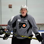 Ryan White has only worn a Flyers jersey in practice since signing with the team as a free agent in August.