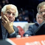 Flyers chairman Ed Snider, left, and general manager Ron Hextall made a splash at the draft with a big trade to clear up salary cap space.