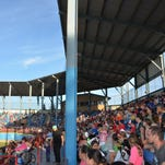 Fans fill the stands at C.O. Brown Stadium for a Battle Creek Bombers contest.