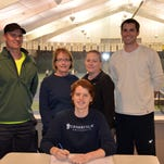 Luke Ingles signed his National Letter of Intent to play tennis at Cedarville University, a Division II school in Ohio. He is pictured with Port Huron Tennis House staff Dave Brown, Barb Lynch, Tiffany Odlum and Steve Pillon.