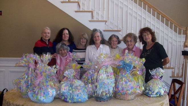 Members of the Cresskill Woman's Club assembled 20 Easter baskets to give to the non-profit Children's Aid and Family Services in Paramus. The agency, located at 200 Robin Road in Paramus, works to preserve and protect families. Learn more at www.cafsnj.org. Monthly meetings of the Cresskill Woman's Club are held on the third Tuesday of each month and new members are always welcome. For more information, visit www.cresskillwomansclub.webs.com.